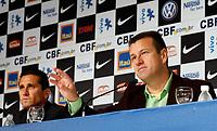 20100511: RIO DE JANEIRO, BRAZIL - Brazil's National Team coach Carlos Dunga announces Brazilian team list for 2010 World Cup. In picture: Carlos Dunga (head coach) and Jorginho (assistant coach, L). PHOTO: CITYFILES