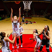 09 November 2018: San Diego State Aztecs center Zayn Dornstauder (22) rebounds the ball in the second quarter. The Aztecs opened up it's regular season schedule with a 58-57 win over Hawaii Friday at Viejas Arena.