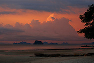 Hongs at sunset, Phang Nga Bay/Andaman Sea, Thailand, Thailand