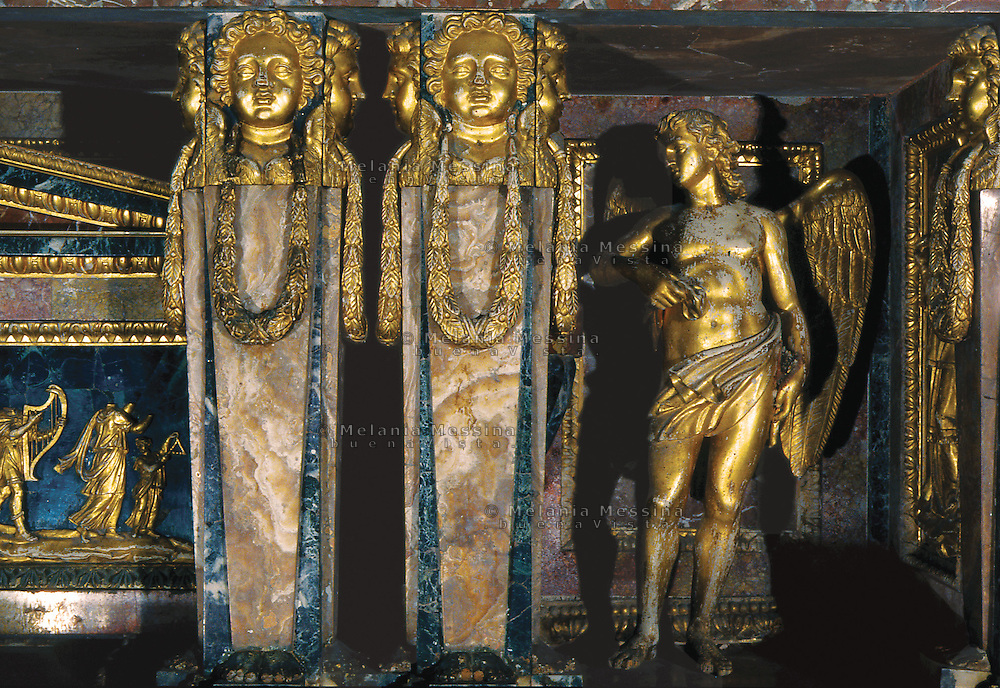 Palermo, S. Maria degli Angeli church, detail of the high altar.<br /> Palermo, chiesa di Santa Maria degli Angeli, la Gancia, dettaglio dell'altare maggiore.