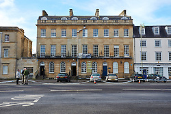 "© Licensed to London News Pictures.  13/02/2014. OXFORD, UK. General view of the scene after a suspect package was received at the Army recruitment office in St Giles, Oxford. The package was one of seven received across the country in the last two days and has been described as ""crude but potentially viable with hallmarks of Northern Ireland-related terrorism. Photo credit: Cliff Hide/LNP"