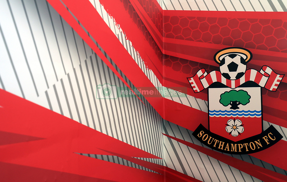 """A general view inside the Southampton ground prior to the Premier League match at St Mary's Stadium, Southampton. PRESS ASSOCIATION Photo. Picture date: Saturday October 21, 2017. See PA story SOCCER Southampton. Photo credit should read: Adam Davy/PA Wire. RESTRICTIONS: EDITORIAL USE ONLY No use with unauthorised audio, video, data, fixture lists, club/league logos or """"live"""" services. Online in-match use limited to 75 images, no video emulation. No use in betting, games or single club/league/player publications."""
