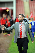 Lee Johnson manager of Barnsley during the Sky Bet League 1 match at Oakwell, Barnsley against Crewe Alexandra<br /> Picture by Graham Crowther/Focus Images Ltd +44 7763 140036<br /> 10/10/2015