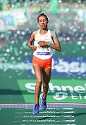 Azmera Gebru (ETH) places second in the women's race in 2:22:52 in the 43rd Paris Marathon in IAAF Gold Label road race in Paris, Sunday, April 14, 2019. (Jiro Mochizuki/Image of Sport)