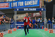 NFL fans enjoy the fan zone, NFL Dash, during the International Series match between Washington Redskins and Cincinnati Bengals at Wembley Stadium, London, England on 30 October 2016. Photo by Jason Brown.