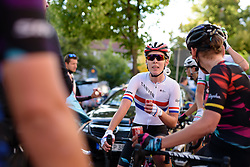 British national champion Hannah Barnes (CANYON//SRAM Racing) catches up with her teammates after Thüringen Rundfarht 2016 - Stage 1 a 67km road race starting and finishing in Gotha, Germany on 15th July 2016.