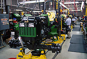 Tractor assembly line.