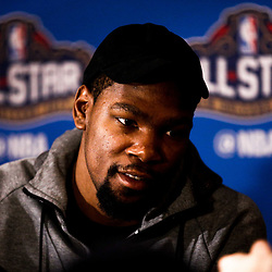 Feb 17, 2017; New Orleans, LA, USA; Western Conference All Star Kevin Durrant during the All Star media availability at the Ritz Carlton. Mandatory Credit: Derick E. Hingle-USA TODAY Sports