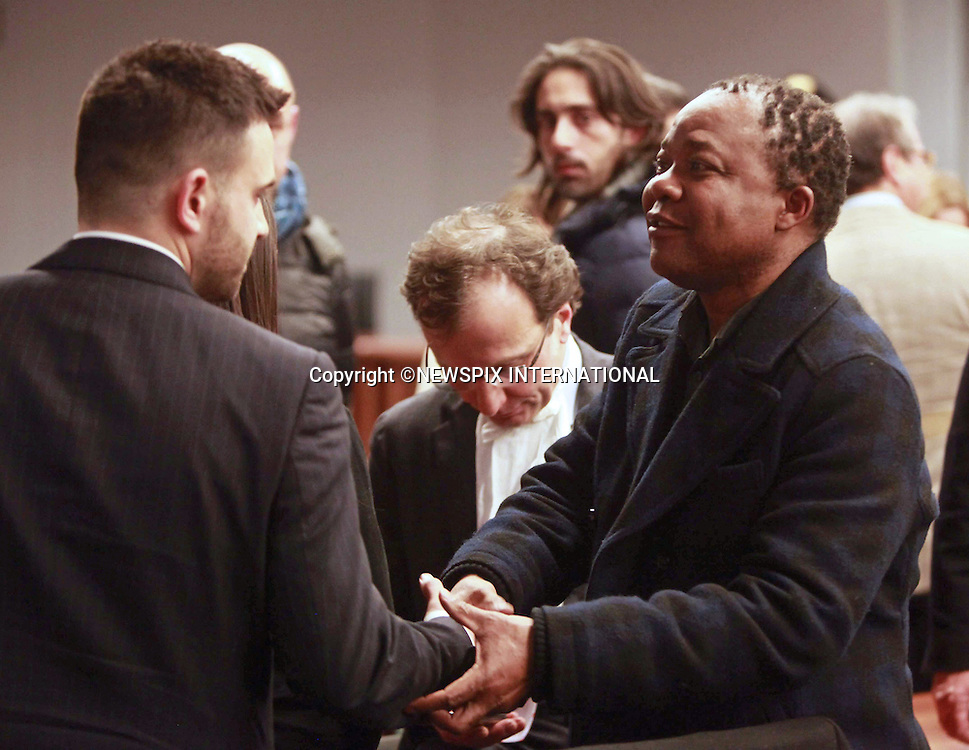 30.01.2014, Florence; Italy: PATRICK LUMUMBA<br /> at the court house to hear the guilty verdict against American Amanda Knox, 26,  and Italian national Raffaele Sollecito, 29.<br /> He was cleared of the killing.<br /> Briton Meredith Kercher was murdered in Perugia in 2007.<br /> Mandatory Credit Photo: &copy;Niccol&ograve;-Sestini/NEWSPIX INTERNATIONAL<br /> <br /> **ALL FEES PAYABLE TO: &quot;NEWSPIX INTERNATIONAL&quot;**<br /> <br /> IMMEDIATE CONFIRMATION OF USAGE REQUIRED:<br /> Newspix International, 31 Chinnery Hill, Bishop's Stortford, ENGLAND CM23 3PS<br /> Tel:+441279 324672  ; Fax: +441279656877<br /> Mobile:  07775681153<br /> e-mail: info@newspixinternational.co.uk