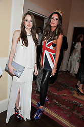 Sisters ROSIE FORTESCUE and LILY FORTESCUE at Tatler's Jubilee Party in association with Thomas Pink held at The Ritz, Piccadilly, London on 2nd May 2012.