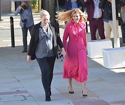 Boris Johnson's girlfriend Carrie Symonds  arrives to hear her leaders speech at the Conservative Party conference in Manchester.<br /> <br /> © Dave Johnston / EEm