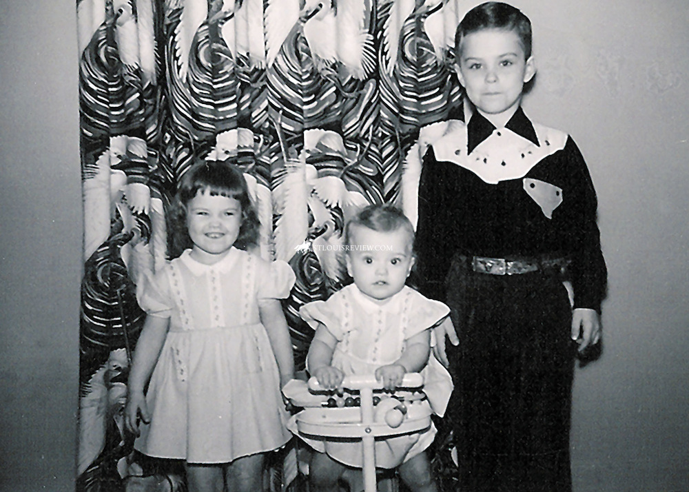 Historical image of Archbishop Robert J. Carlson with sisters 1950