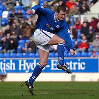 St Johnstone v Falkirk...03.04.04<br />Chris Hay fires home his second goal<br /><br />Picture by Graeme Hart.<br />Copyright Perthshire Picture Agency<br />Tel: 01738 623350  Mobile: 07990 594431