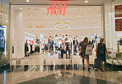 H&M store in Mall of the Emirates shopping centre in Dubai United Arab Emirates