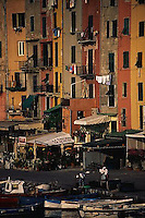 1997, Portovenere, Italy --- Apartments in Portovenere --- Image by © Owen Franken/CORBIS