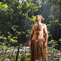 Explorer Ed Stafford on location in The Great Sabana of Canaima National Park in Venezuela, December 3, 2013. Photo by Tito Herrera for Discovery