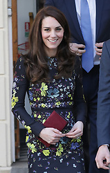 The Duchess of Cambridge leaving the Institute of Contemporary Art in London where she outlined the next phase of their mental health Heads Together campaign.