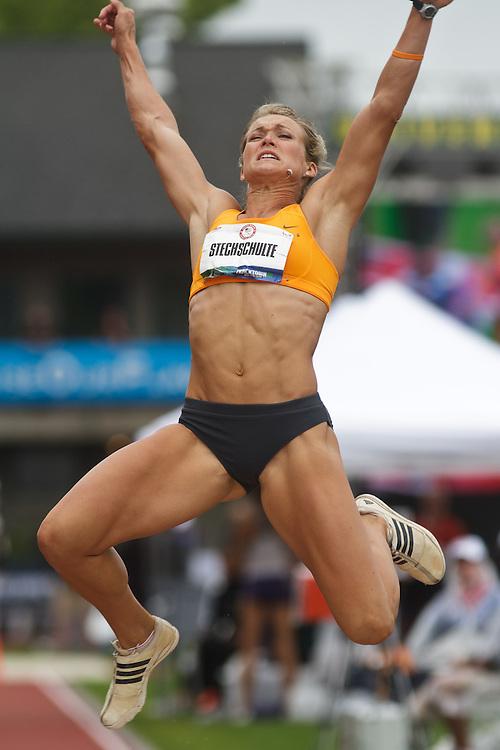 Olympic Trials Eugene 2012: Heptathlon, long jump, Stechshulte