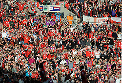 Bristol City fans - Photo mandatory by-line: Dougie Allward/JMP - Mobile: 07966 386802 - 22/03/2015 - SPORT - Football - London - Wembley Stadium - Bristol City v Walsall - Johnstone Paint Trophy Final