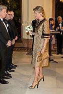 ANTWERPEN BELGIUM - 26-11-2016 Queen Mathilde attends the concert on the occasion of the official inauguration of the new Queen Elizabeth Hall in Antwerp. Koningin Mathilde woont het concert bij ter gelegenheid van de officiële ingebruikname van de vernieuwde Koningin Elisabethzaal te Antwerpen. COPYRIGHT ROBIN UTRECHT