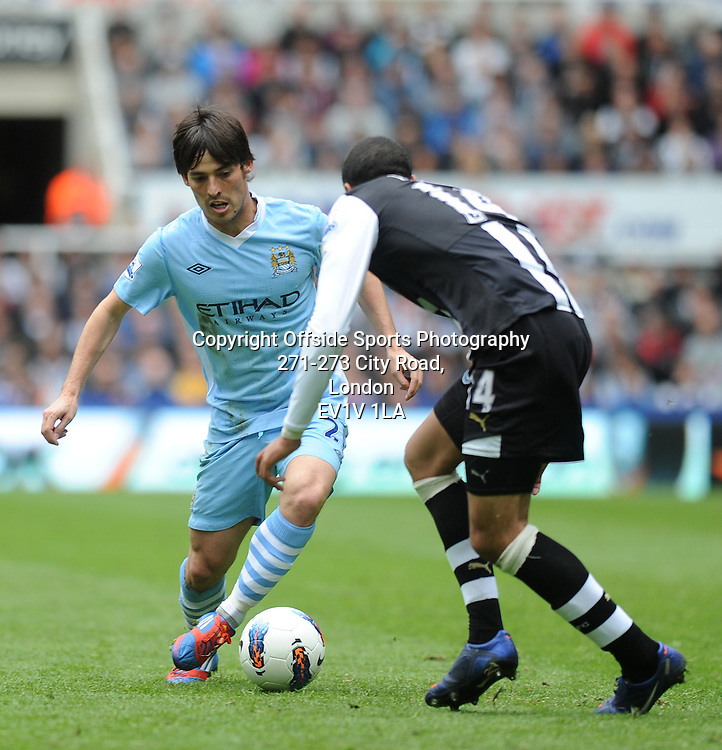 06/05/2012 - Barclays Premier League Football - 2011-2012 - Newcastle United v Manchester City - David Silva attacks for City. - Photo: Charlie Crowhurst / Offside.