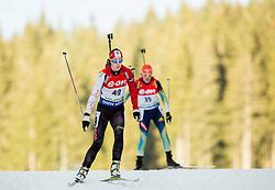 Megan Heinicke of Canada competes during Women 7.5 km Sprint at day 1 of IBU Biathlon World Cup 2014/2015 Pokljuka, on December 18, 2014 in Rudno polje, Pokljuka, Slovenia. Photo by Vid Ponikvar / Sportida
