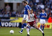 Fotball<br /> Frankrike 2003/04<br /> Strasbourg v Paris St. Germain<br /> 1. mai 2004<br /> Foto: Digitalsport<br /> NORWAY ONLY<br /> <br /> PONTUS FARNERUD (STR) / LORIK CANA (PSG) -