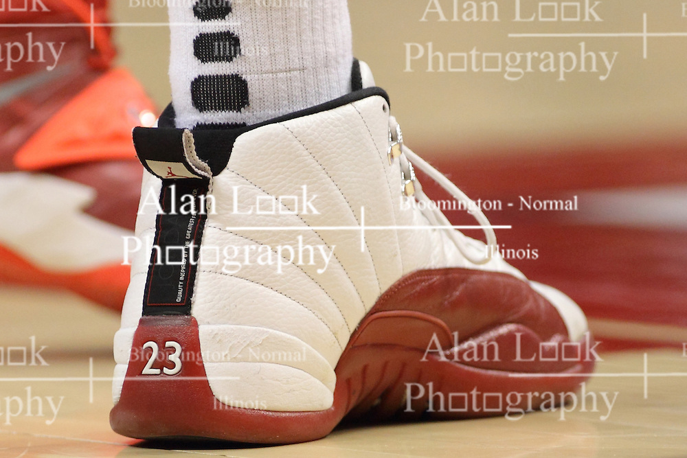 18 March 2015:   Nike Jordans during an NIT men's basketball game between the Green Bay Phoenix and the Illinois State Redbirds at Redbird Arena in Normal Illinois This image available for EDITORIAL USE ONLY. A release may be required. Additional information by contacting alook at alanlook.com
