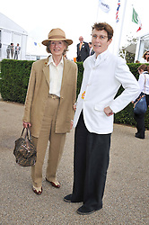 Left to right, JOAN HICKS and her daughter SOPHIE HICKS mother of Edie Campbell at the 3rd day of the 2012 Glorious Goodwood racing festival at Goodwood Racecourse, West Sussex on 2nd August 2012.