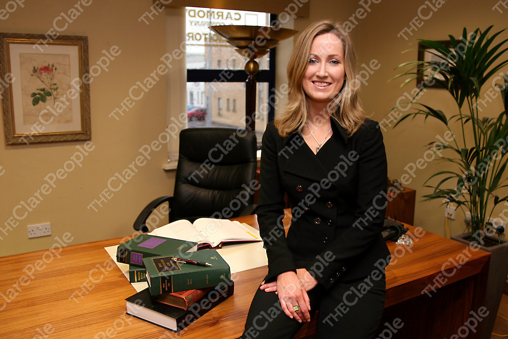 Jenny Fitzgibbon who recently graduated in law and is now practising with Catriona Carmody &amp; Co., Peach House in Shannon.<br />