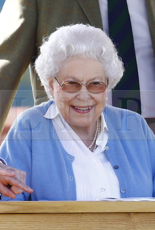 © Licensed to London News Pictures. 09/05/2018. Windsor, UK. Queen Elizabeth II attends the 75th Royal Windsor Horse Show . The five day event takes place in the grounds of Windsor Castle. The Queen and the Duke of Edinburgh usually attend. Photo credit: Peter Macdiarmid/LNP