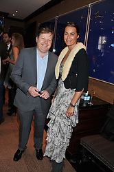 CHARLES DUNSTONE and YASMIN LE BON at a lunch to announce the partnership between Creme de la Mer and BLUE Marine Foundation held at Sotheby's 34-35 New Bond Street, London on 18th May 2012.
