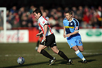 Steve Guinan left for Cheltenham and  Rob Lee of Wycombe <br /> <br /> Photo: Richard Eaton.<br /> <br /> Cheltenham Town v Wycombe Wanderers. Coca Cola League 2. 04/03/2006.