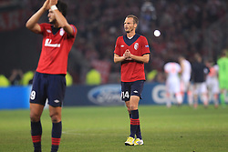 23.10.2012, Grand Stade Lille Metropole, Lille, OSC Lille vs FC Bayern Muenchen, im Bild Ex-HSV-Spieler David ROZEHNAL (OSC Lille - 14) nach Schlusspfiff // during UEFA Championsleague Match between Lille OSC and FC Bayern Munich at the Grand Stade Lille Metropole, Lille, France on 2012/10/23. EXPA Pictures © 2012, PhotoCredit: EXPA/ Eibner/ Ben Majerus..***** ATTENTION - OUT OF GER *****