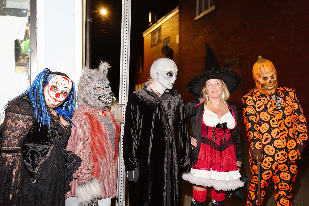 USA, MA, Salem, 28 October 2017. Halloween celebration in Salem.