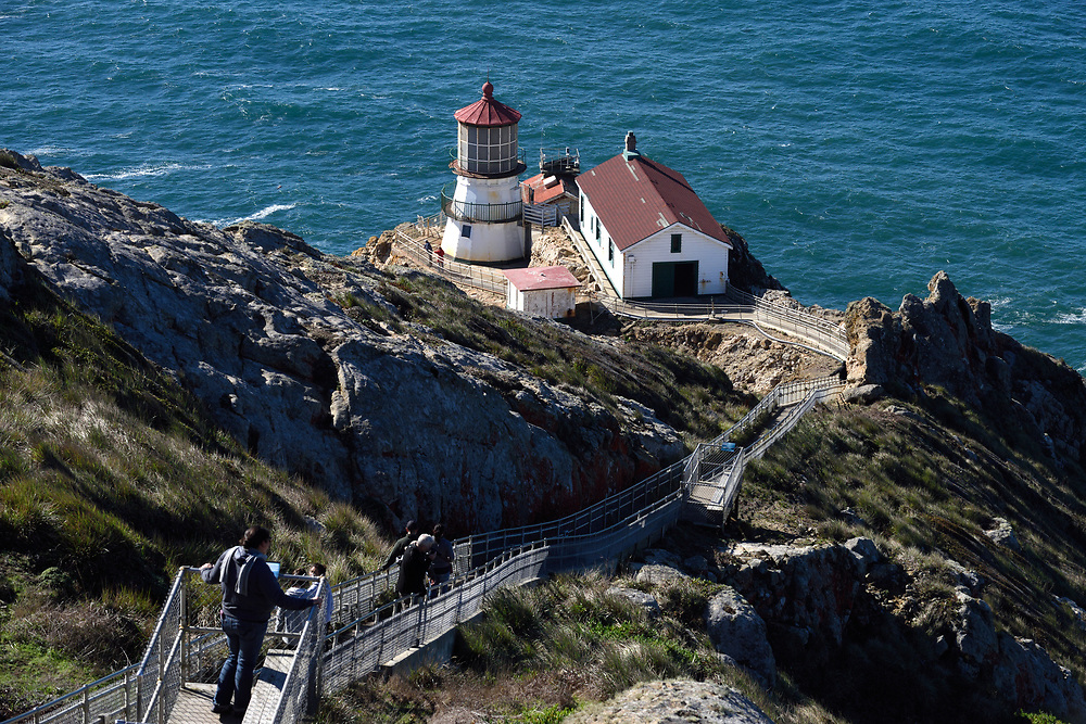 The Point Reyes Lighthouse on November17'th, 2017. The Point Reyes Lighthouse, also known as Point Reyes Light or the Point Reyes Light Station, is a lighthouse in the Gulf of the Farallones in Point Reyes National Seashore, located in Marin County, California, United States. Photo by Gili Yaari