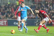Wolverhampton Wanderers Tommy Rowe on the ball during the Sky Bet Championship match between Bristol City and Wolverhampton Wanderers at Ashton Gate, Bristol, England on 3 November 2015. Photo by Shane Healey.