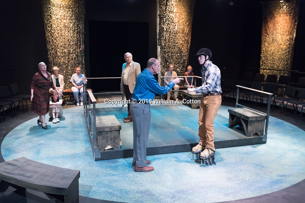 "The Bas Bleu Theatre Company rehearses its production of ""Equus."" May 30, 2018."
