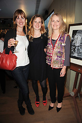 Left to right, SAMANTHA MARRIAN, EMILY MARRIAN and FELICITY MARRIAN at a party to celebrate the publication of Born Wild by Tony Fitzjohn at The Arts Club, Dover Street, London on 16th September 2010.