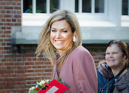 Leiden. 17-02-2016<br /> <br /> <br /> <br /> Queen Maxima visit the jubilee of the project Debt relief Buddy.<br /> <br /> Royalportraits Europe/Bernard Ruebsamen