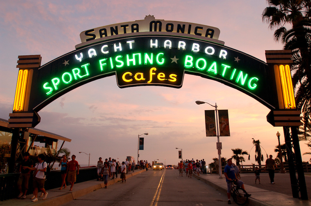 Santa Monica Pier, Santa Monica, Los Angeles, California, United States of America