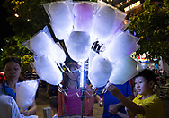 Cotton candy for sale on Nguyen Hue Boulevard in Ho Chi MInh City, Vietnam, Southeast Asia