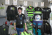 Merchandise stand during the EFL Sky Bet League 2 match between Forest Green Rovers and Notts County at the New Lawn, Forest Green, United Kingdom on 10 March 2018. Picture by Shane Healey.