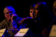 "Tariq Saqqaf, right, Madison's neighborhood resource coordinator, makes a point made during the panel: ""How can Madison build more great neighborhoods?"" at High Noon Saloon in Madison, Tuesday, November 7, 2017."