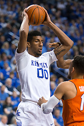 Kentucky forward Marcus Lee grabs a rebound in the second half.<br /> <br /> The University of Kentucky hosted the University of Florida, Saturday, Feb. 06, 2016 at Rupp Arena in Lexington .