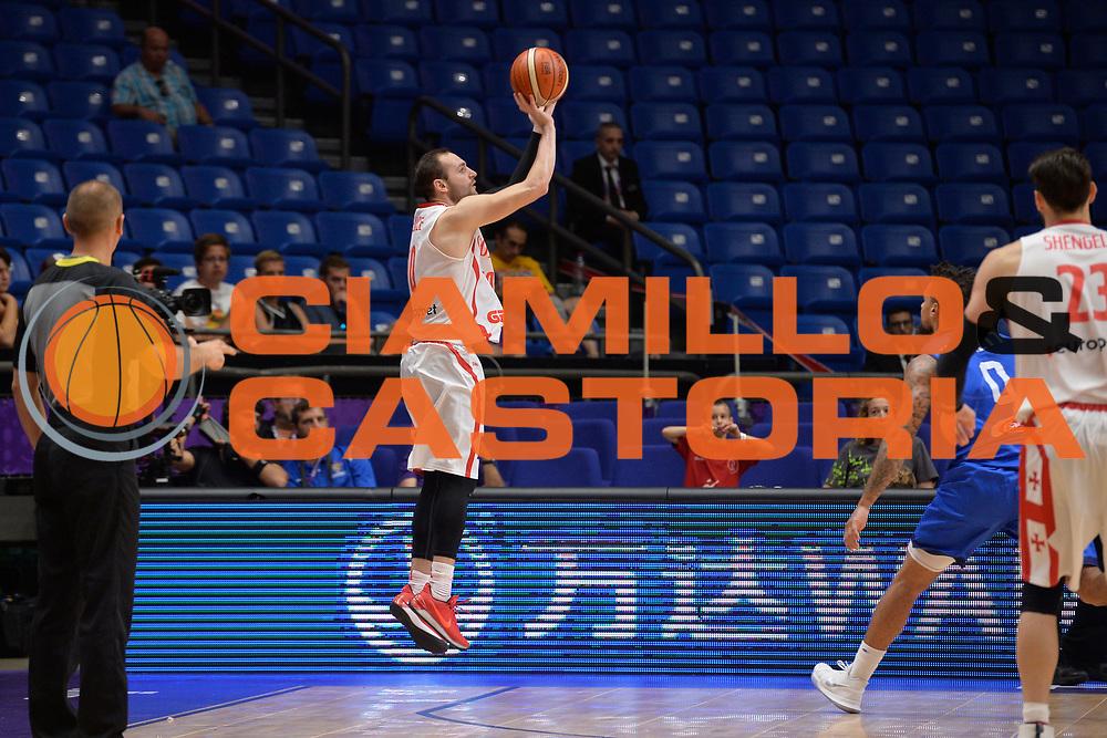 Duda Sanadze<br /> Nazionale Italiana Maschile Senior<br /> Eurobasket 2017 - Group Phase<br /> Georgia Italy Italia<br /> FIP 2017<br /> Tel Aviv, 06/09/2017<br /> Foto Ciamillo - Castoria/ Ivan Mancini