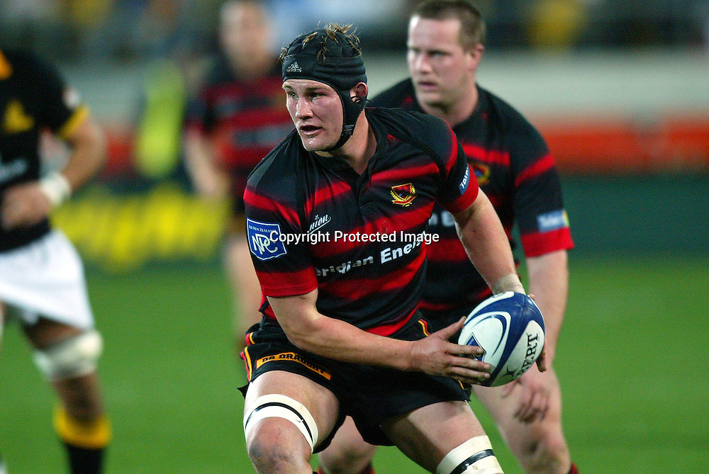 3 August 2004, Westpac Stadium, Wellington, <br /> New Zealand, Rugby Union, NPC Div 1<br /> Wellington Lions vs Canterbury<br /> Canterbury's captain Sam Broomhall during Wellington's 34-22 win over Canterbury on Friday night.<br /> Please Credit: Marty Melville/Photosport