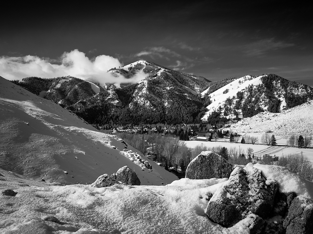 Bald Mountain, from Dollar mountain, Sun Valley Idaho. color available