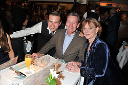 Left to right, STEFAN BOOTH, FRANK GARDNER and SAMANTHA BOND at One Night Only at The Ivy held at The Ivy, 1-5 West Street, London on 2nd December 2012.