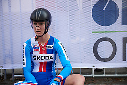 Tereza Kornasova (CZE) recovers after the UCI Road World Championships 2018 - Elite Women's ITT, a 27.7 km individual time trial in Innsbruck, Austria on September 25, 2018. Photo by Sean Robinson/velofocus.com